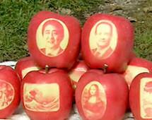В Японии вырастили яблоки с портретом премьер Японии Синдзо Абэ и гравюрой «Мона Лиза»