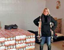 35 тонн гуманитарного груза для пострадавших амурчан готовит к отправке актриса Яна Поплавская
