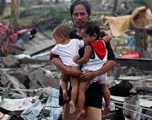 На Филлипинах супертайфун унёс жизни более 10 тысяч человек