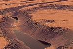 Немецкие ученые доказали существование на Марсе озера из жидкой воды