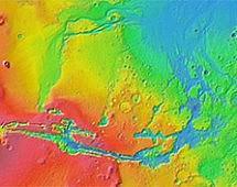 Каньоны и овраги на Марсе образованы потоками лавы