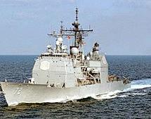ВМС США направят в Черное море ракетный крейсер Vella Gulf